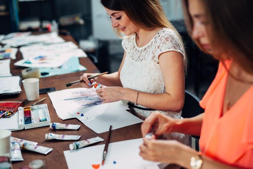 Ladies in art class